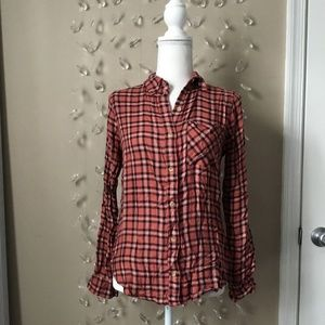 Abercrombie and Fitch Plaid Flannel Button Down